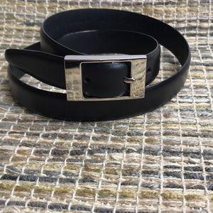 Amanda Smith Black Leather Belt Size Medium